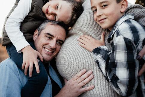 Vater und Söhne bei Familienshooting in Wolfsburg